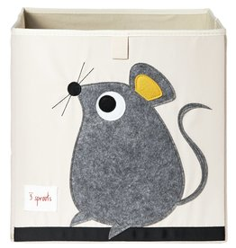 3 Sprouts Storage Box, Gray Mouse