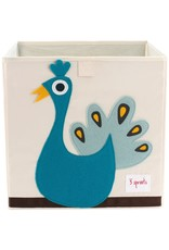 3 Sprouts Storage Box, Blue Peacock