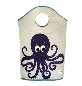 3 Sprouts Laundry Hamper, Purple Octopus