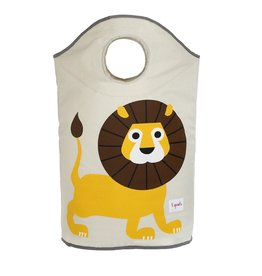 3 Sprouts Laundry Hamper, Yellow Lion