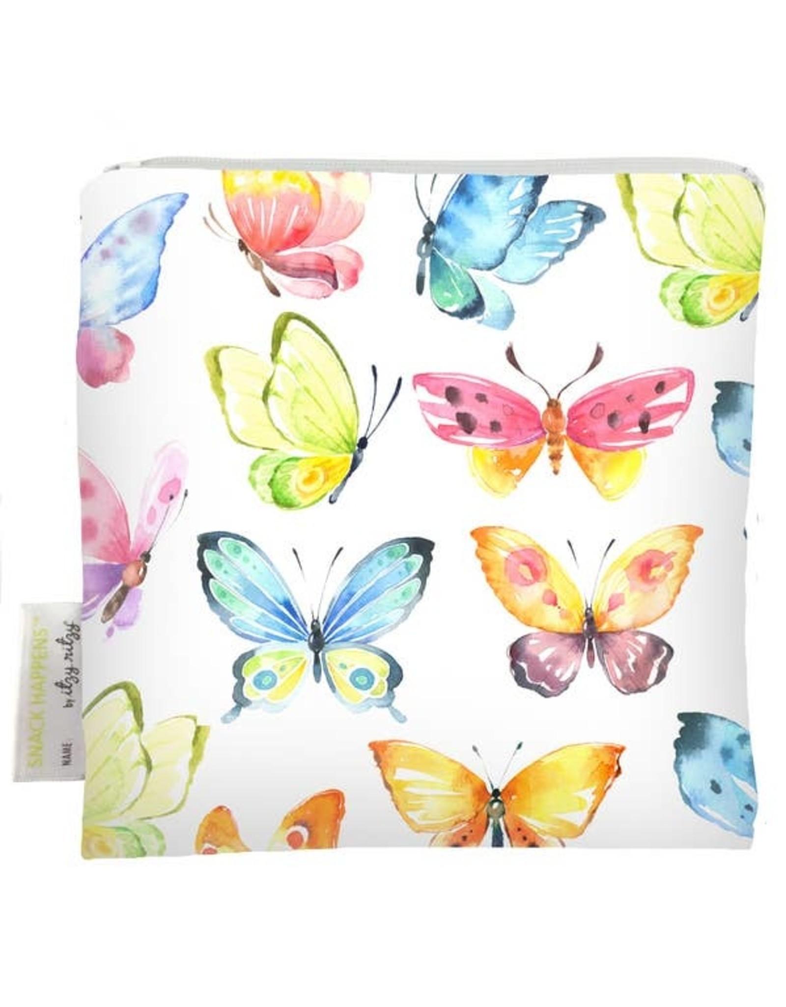 Itzy Ritzy Reusable Snack Bag, Beautiful Butterflies