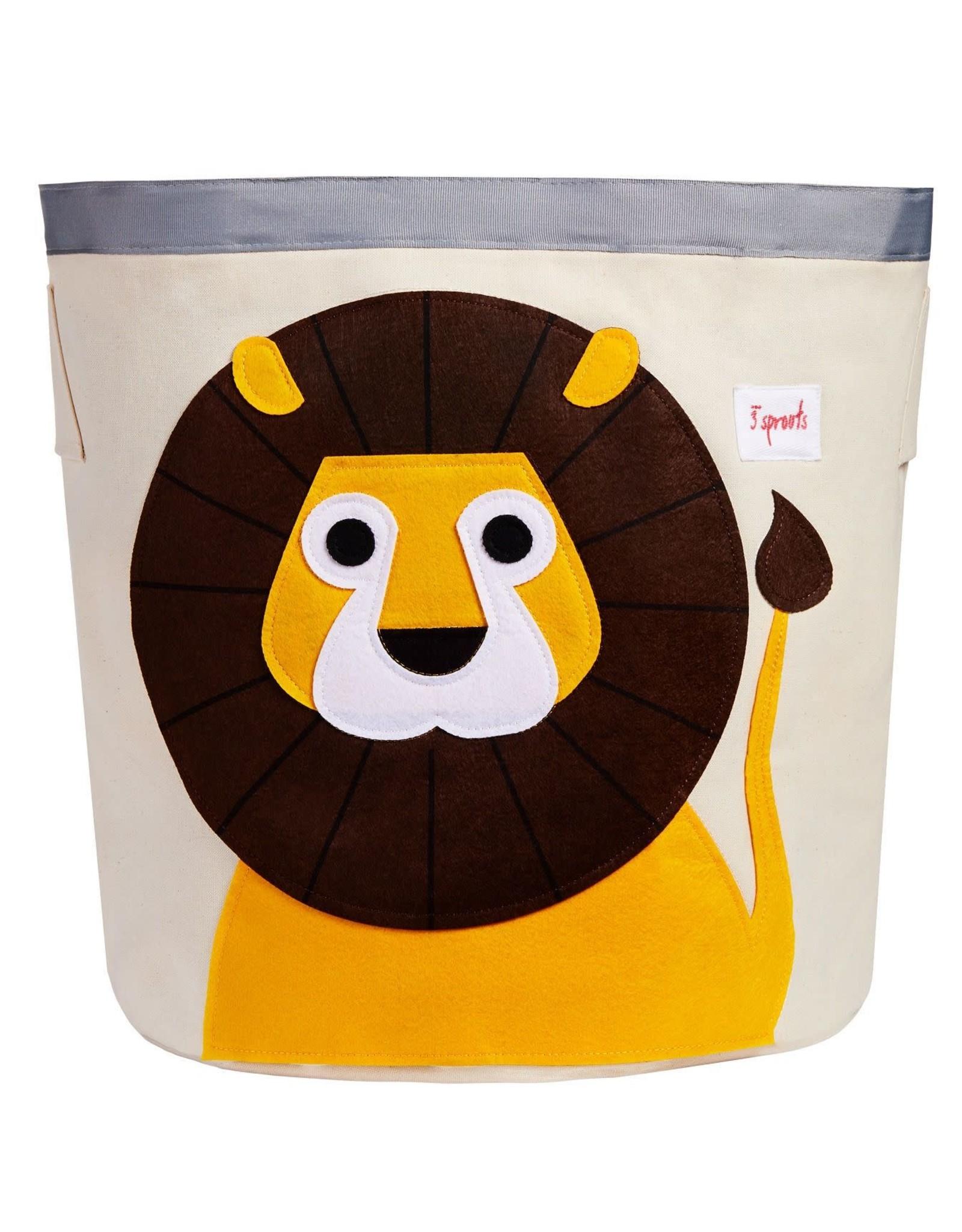 3 Sprouts Storage Bin, Yellow Lion