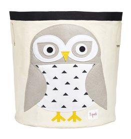 3 Sprouts Storage Bin, White Snowy Owl