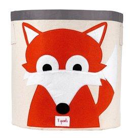 3 Sprouts Storage Bin, Orange Fox