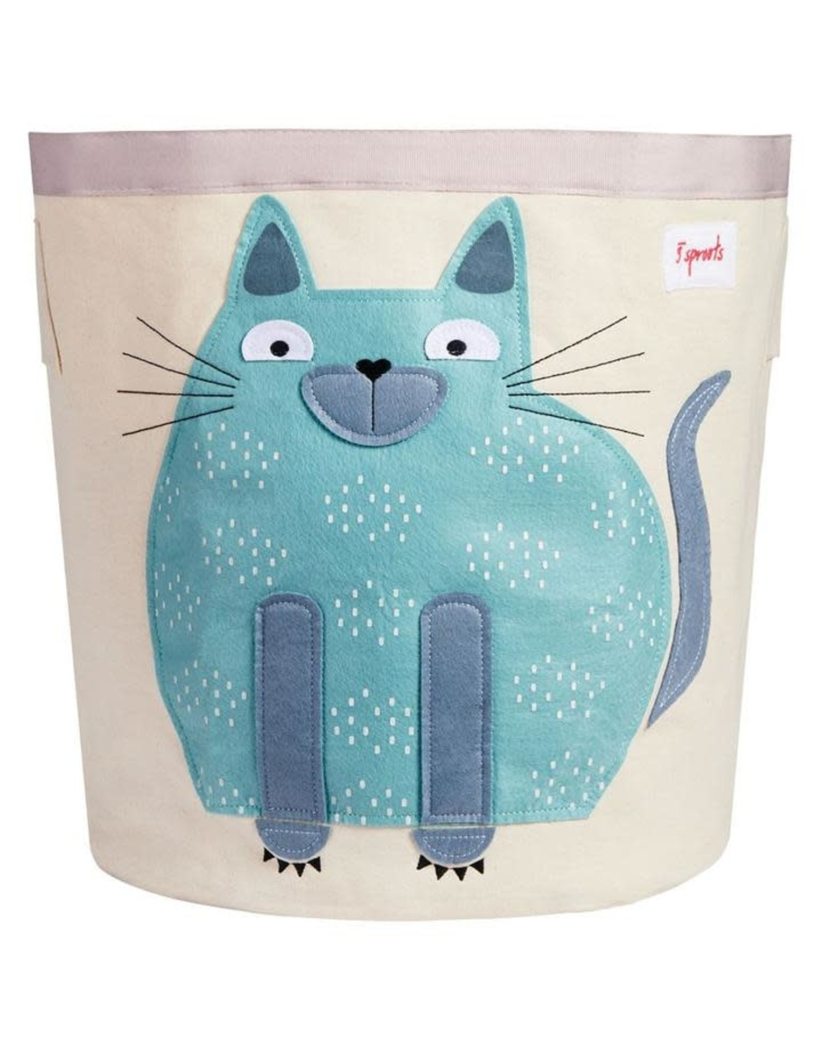 3 Sprouts Storage Bin, Toffee Cat