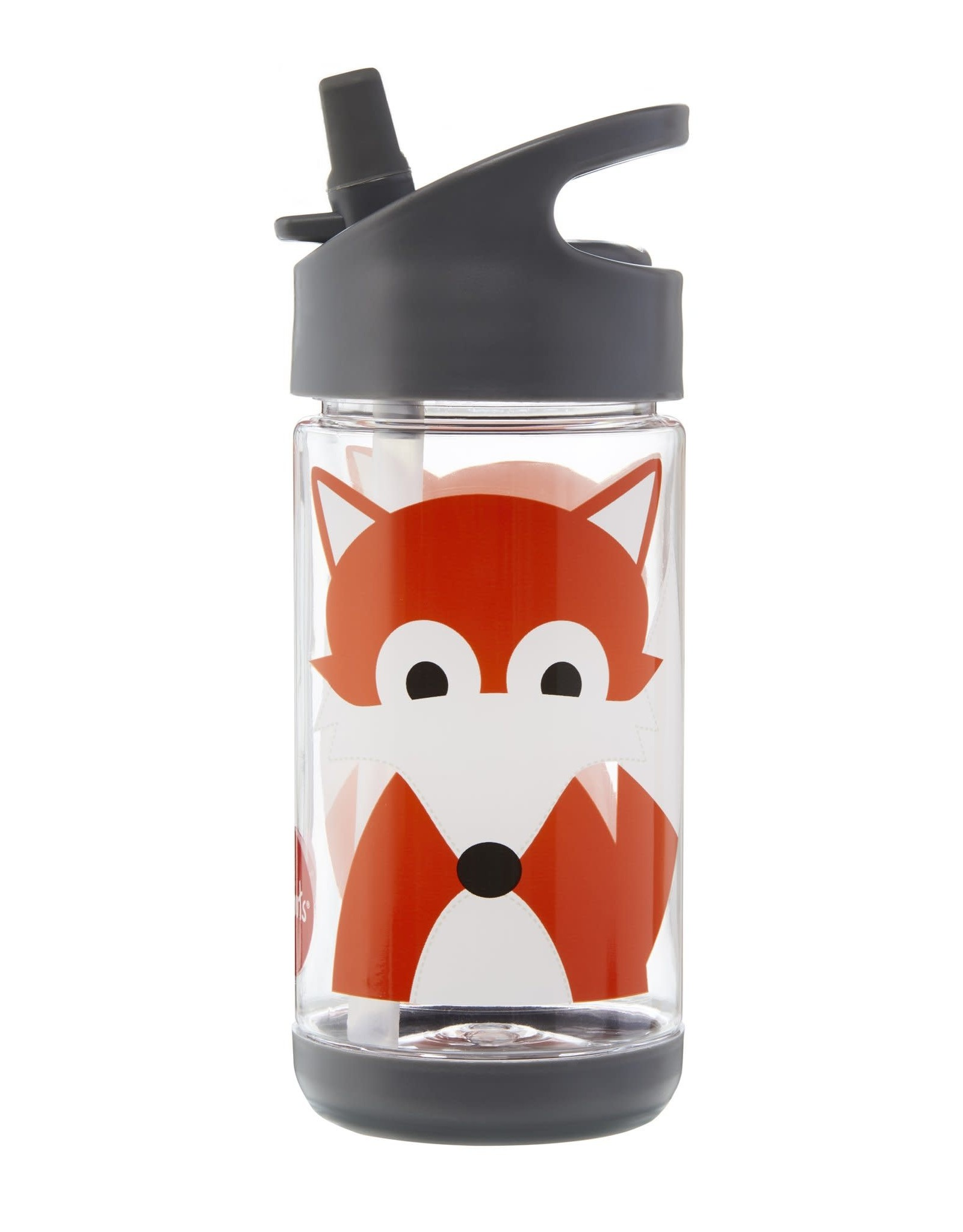 3 Sprouts Water Bottle, Gray Fox
