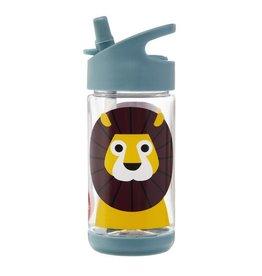 3 Sprouts Water Bottle, Blue Lion