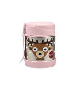 3 Sprouts Stainless Steel Food Jar, Pink Deer