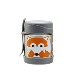 3 Sprouts Stainless Steel Food Jar, Gray Fox