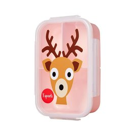 3 Sprouts Bento Box, Pink Deer