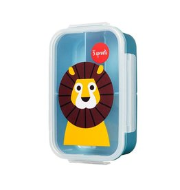 3 Sprouts Bento Box, Blue Lion