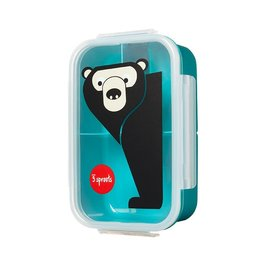 3 Sprouts Bento Box, Teal Bear