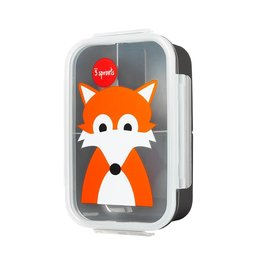 3 Sprouts Bento Box, Gray Fox