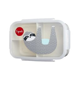 3 Sprouts Bento Box, Gray Sloth
