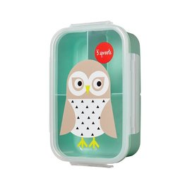 3 Sprouts Bento Box, Mint Owl