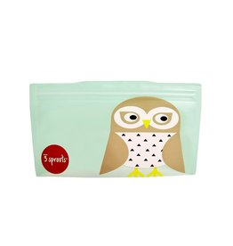 3 Sprouts Snack Bag 2pk, Mint Owl