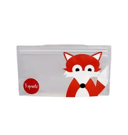 3 Sprouts Snack Bag 2pk, Gray Fox