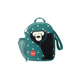 3 Sprouts Lunch Bag, Teal Bear