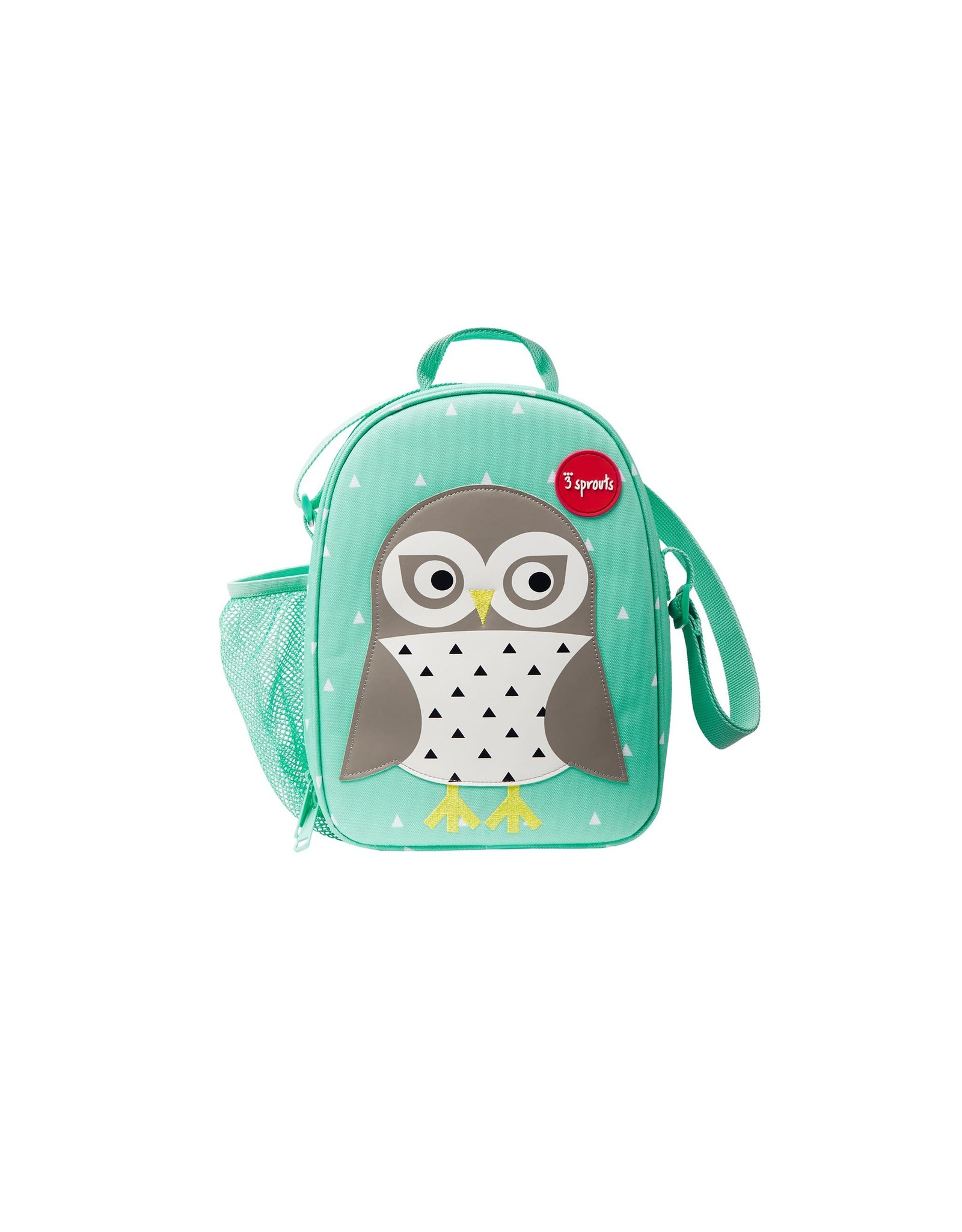 3 Sprouts Lunch Bag, Mint Owl