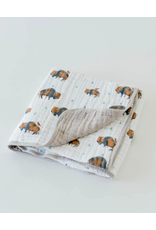 Little Unicorn, LLC Cotton Muslin Baby Quilt, Bison