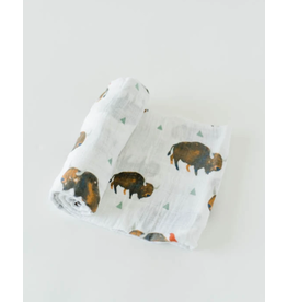 Little Unicorn, LLC Cotton Muslin Swaddle Single, Bison