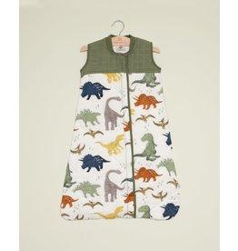 Little Unicorn, LLC Cotton Muslin Quilted Sleep Bag, Large, Dino Friends