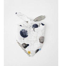 Little Unicorn, LLC Cotton Muslin Reversible Bandana Bib, Planetary