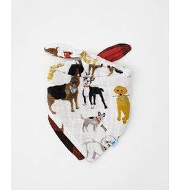 Little Unicorn, LLC Cotton Muslin Reversible Bandana Bib, Woof