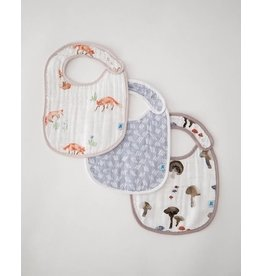 Little Unicorn, LLC Cotton Muslin Classic Bib 3 Pack, Fox