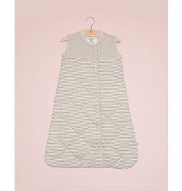Little Unicorn, LLC Cotton Muslin Quilted Sleep Bag, Medium, Grey Stripe