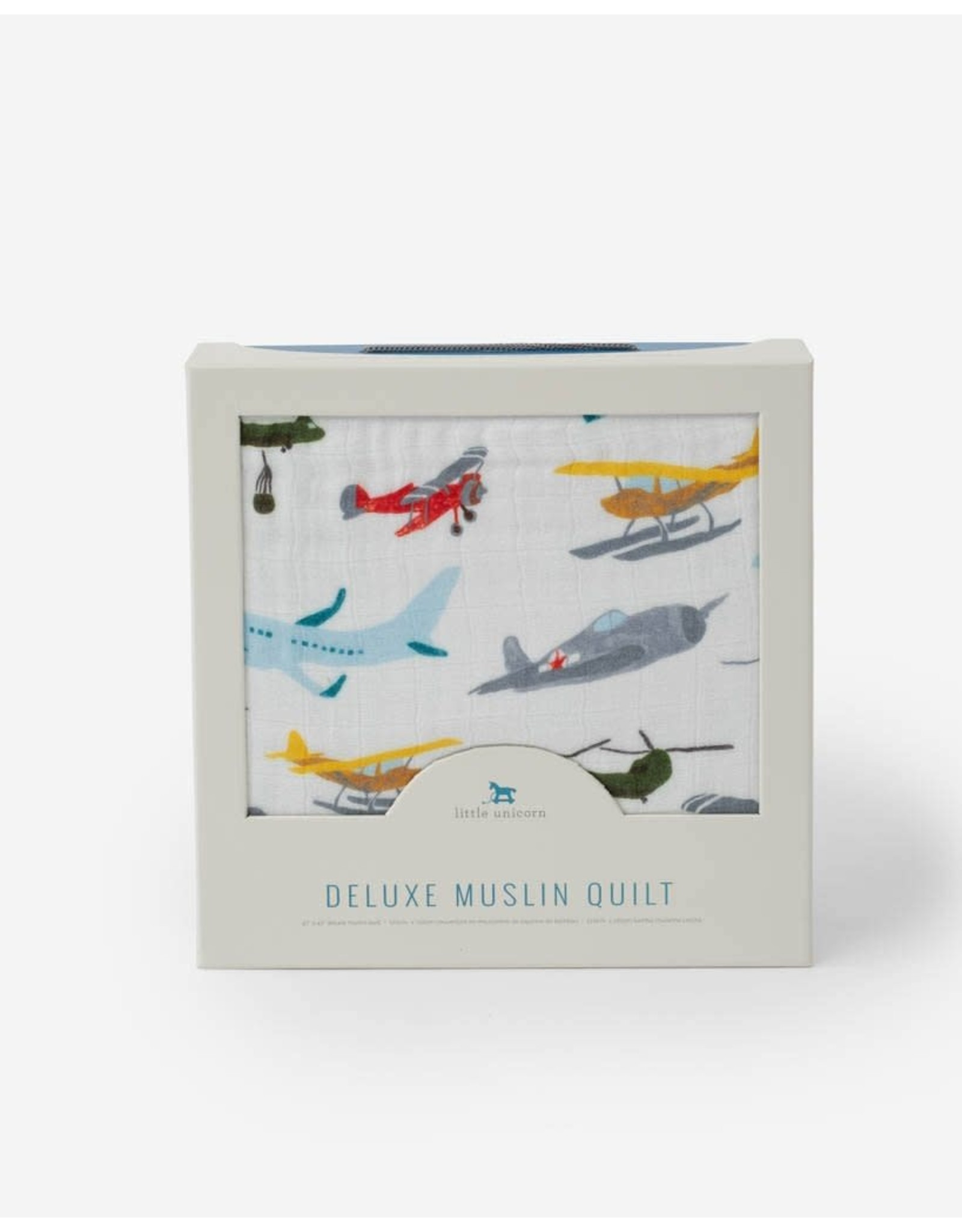 Little Unicorn, LLC Deluxe Muslin Baby Quilt, Air Show