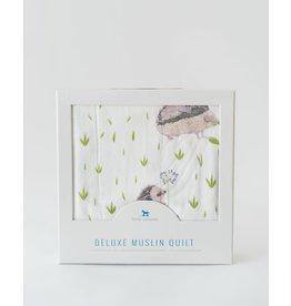 Little Unicorn, LLC Deluxe Muslin Baby Quilt, Hedgehog