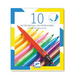 Djeco 10 Felt Brushes, Pop Colours