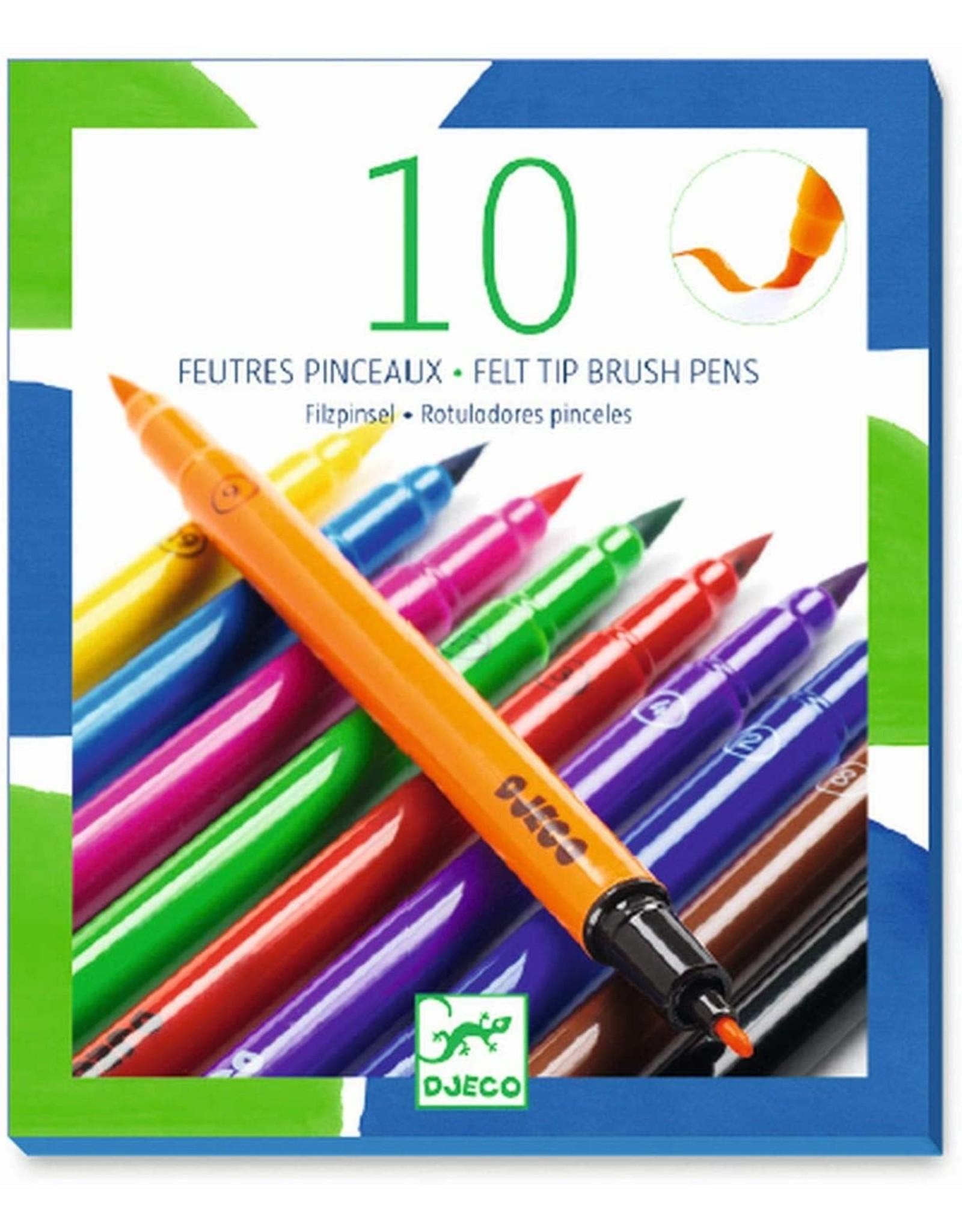 Djeco 10 Felt Brushes, Classic
