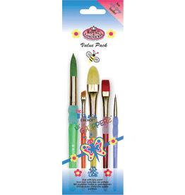 Royal and Langnickel Round Variety Brush Pack, 5pc