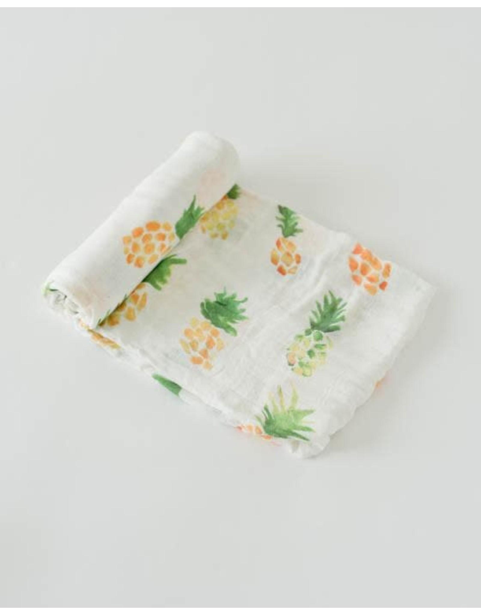 Little Unicorn, LLC Deluxe Muslin Swaddle Single, Pineapple