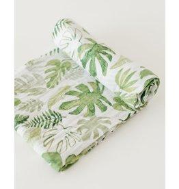Little Unicorn, LLC Cotton Muslin Swaddle, Tropical Leaf