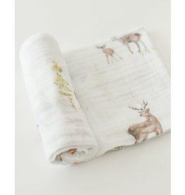 Little Unicorn, LLC Cotton Muslin Swaddle Single, Oh Deer!