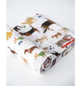 Little Unicorn, LLC Cotton Muslin Swaddle, Woof