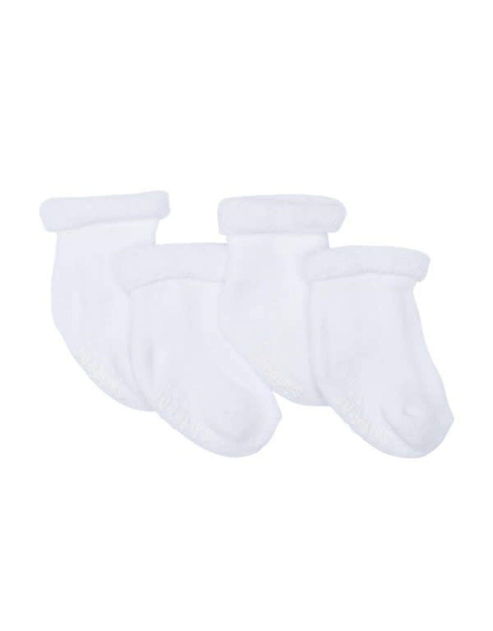 Juddlies Infant Socks, 2 pairs, White