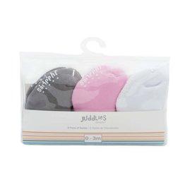 Juddlies Infant Socks, 6 pairs, Pink
