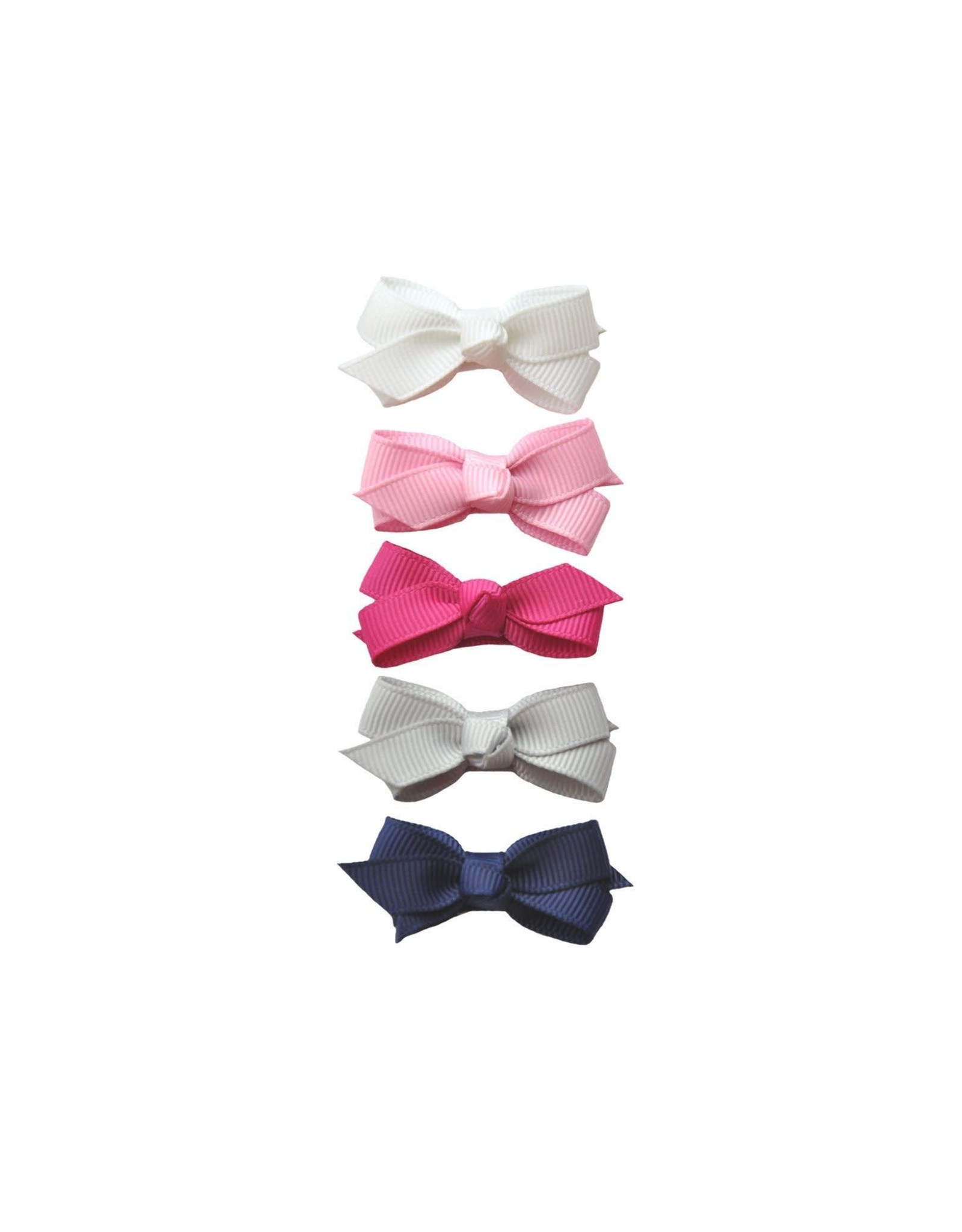Baby Wisp Baby Wisp Small Snap Chelsea Boutique Bow, 5 pack, Prep Girl