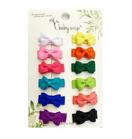 Baby Wisp Baby Wisp Collectors Snap Clips 12pk, Bright