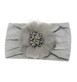 Baby Wisp Baby Wisp Flower Headband, Grey