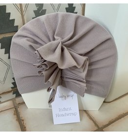 Baby Wisp Baby Wisp Ruffles Headwrap Hat, Grey