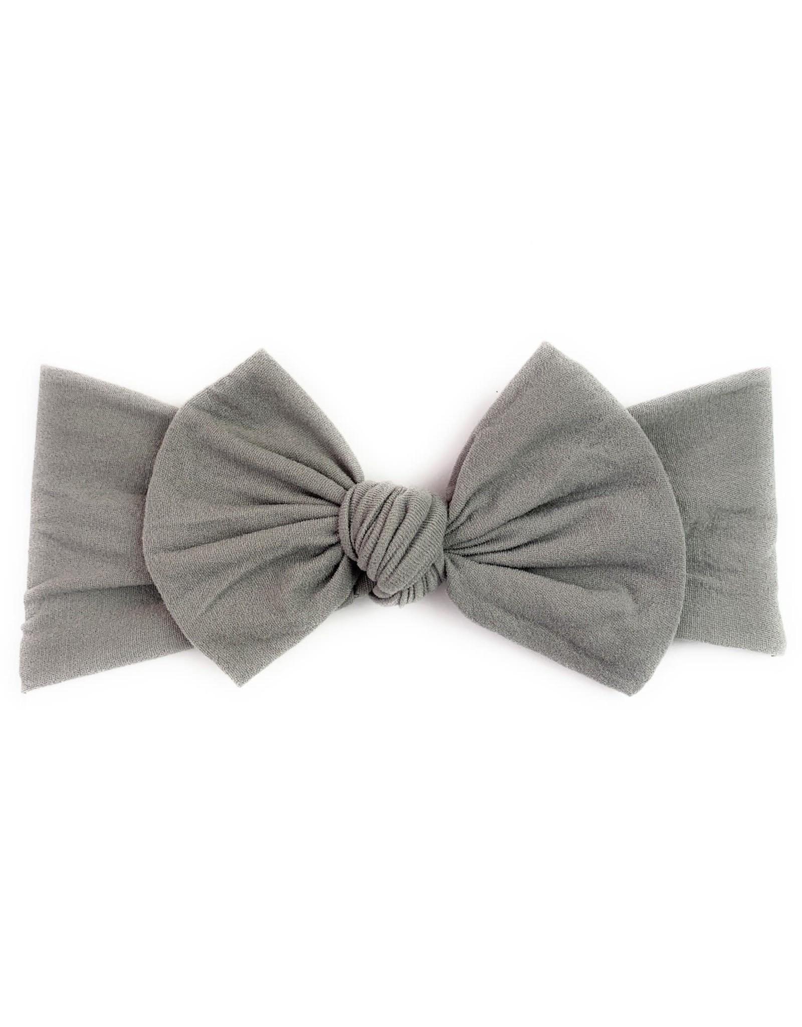 Baby Wisp Baby Wisp Bow Headband, Grey