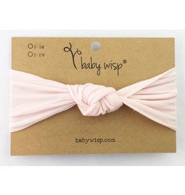 Baby Wisp Baby Wisp Turban Knot Headband, Pale Pink