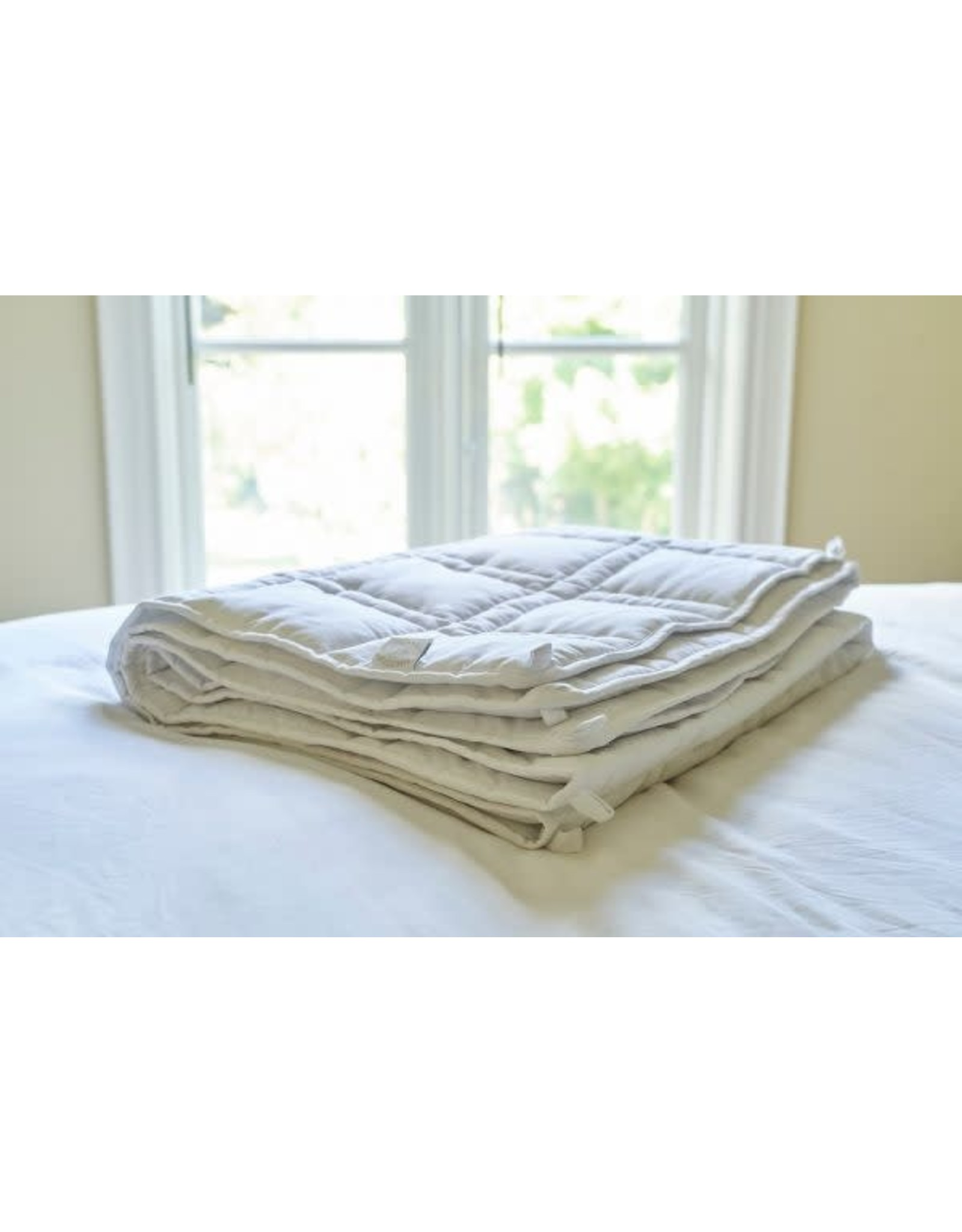 The Huggler Weighted Blanket White 12 Lbs Angellina S Toy Boutique