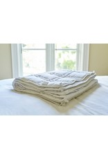 Cheryl's Home and Family The Huggler Weighted Blanket, White, 8 lbs