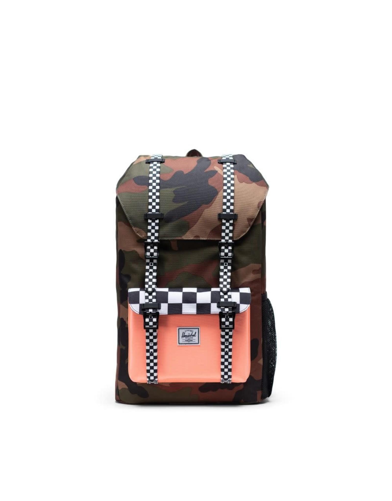 Herschel Supply Herschel Little America Youth Backpack, Camo/Neon Orange